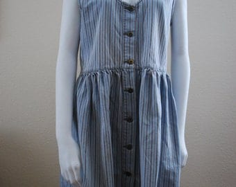medium striped denim dress