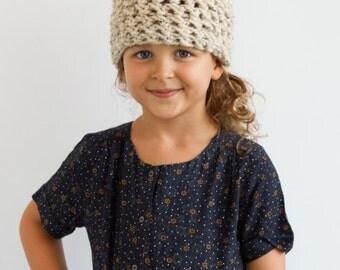 Kid's Soft Ear Hat in Oatmeal