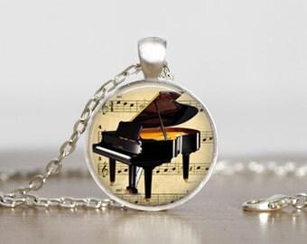 Piano Pendant Necklace, Piano Pendant, Piano Teachers gift idea