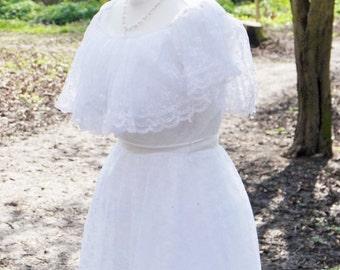 Vintage wedding dress, 1980s wedding dress, wedding dress, vintage gown, vintage bride, small dress, wedding dresses,