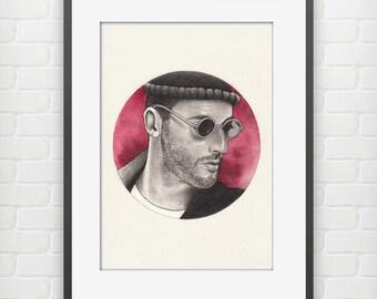 Léon / Jean Reno Fine Art Print