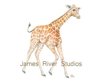 Giraffe Print Giraffe Art Print Giraffe Painting Giraffe Nursery Giraffe Wall Decor Baby Giraffe Poster Gender Neutral Art Giraffe Wall Art