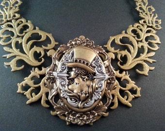 Steampunk Necklace - Victorian Necklace - Gothic Jewelry - Steampunk Jewelry - Dawn Santucci - Metal di Muse - Diva Dawn