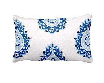 Cobalt Blue Pillow Cover Cobalt Lumbar Pillow Blue Throw Pillow Cover Blue Damask Pillows Decorative Pillows Cobalt Decor Rectangular Pillow