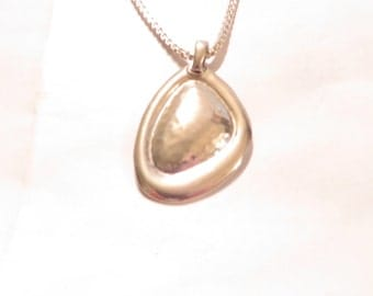 Lovely Vintage Israel Silver Pendant Necklace