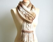 KNITTING PATTERN - Brocaat Lace Scarf - instant pdf download