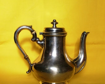 teiera in metallo argentato Broggi · Milano, teiera e caffettiera Broggi, antica teiera per Hotel & Restaurant, silver plated small tea pot