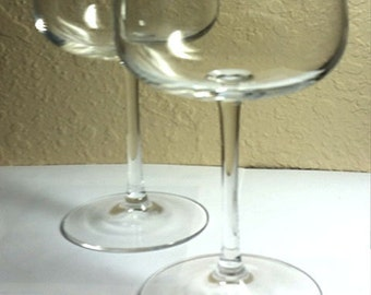 S/2 * Very Elegant Long Stemmed Crystal Champagne Coupes