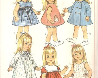"REDUCED PRICE!  VINTAGE Simplicity Sewing Pattern 6768 - Wardrobe for 18"" Dolls"