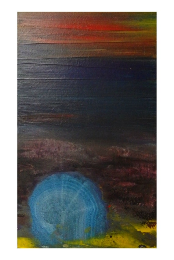Painting Mdf Board ~ Shell painted landscapes original acrylic painting on mdf