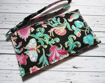 iPhone Wristlet, Smartphone Clutch Wallet, iPhone Clutch, iPhone Wallet, Cell Phone Wristlet, Phone Wallet, Gift for Her
