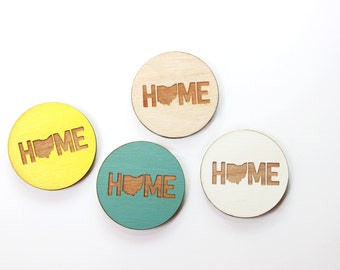 Ohio  Magnets  Keychains - Home - State Pride - Laser Cut - Laser Engraved - Wood
