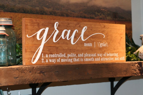 5th Anniversary Gift For Her Wood Sign Grace Sign Grace