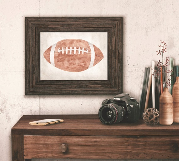 Items similar to football wall art vintage sports boy 39 s for Vintage basketball wall art