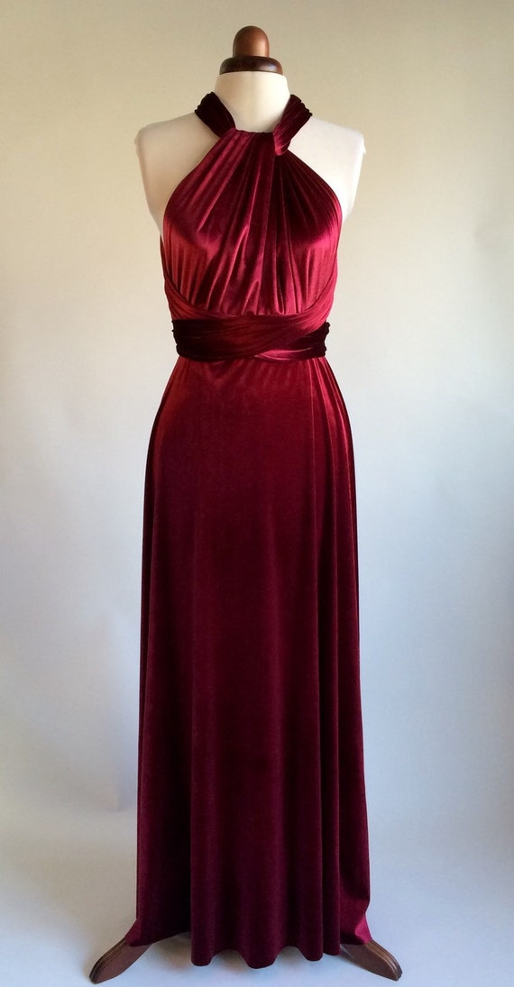 Infinity Dress Bridesmaid Dress Prom Dress Red Velvet