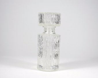 Bottle Vintage German glass for spirits with texture