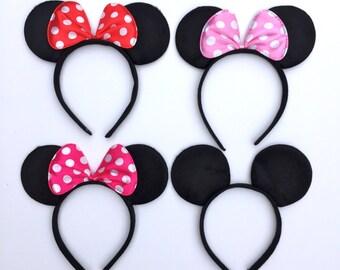 Minnie Mouse Ears, Mickey Mouse Ears