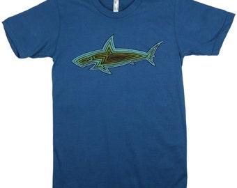 Shark Woodie: ORGANIC Cotton American Apparel Mens Tee