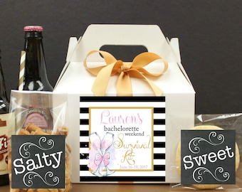 Wedding Welcome Box 6 Wedding Guest Boxes Hotel by FavorBoxParty