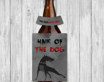 Halloween Beer Bottle Label Hair of the Dog Chalkboard | Halloween Beer Bottle Label | Halloween Party Printables | Halloween Decoration DIY