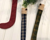 Homespun Skinny Christmas Stocking Set (3)