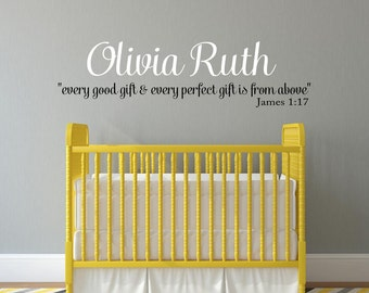 Bible Verse Decal Etsy - Bible verse nursery wall decals