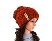 ON SALE Chunky Slouchy Hat Beanie Toque // The Samara // in Spice