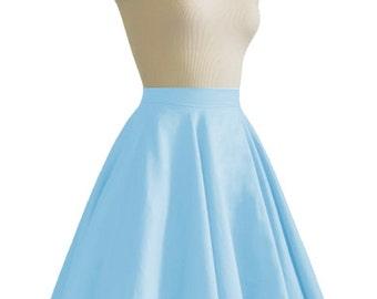 JULIETTE Sky Blue Rockabilly Swing Rock 'n Roll Skirt//Full Circle Blue Skirt//Retro Mod 50s style Skirt//Party Skirt XXS-3X