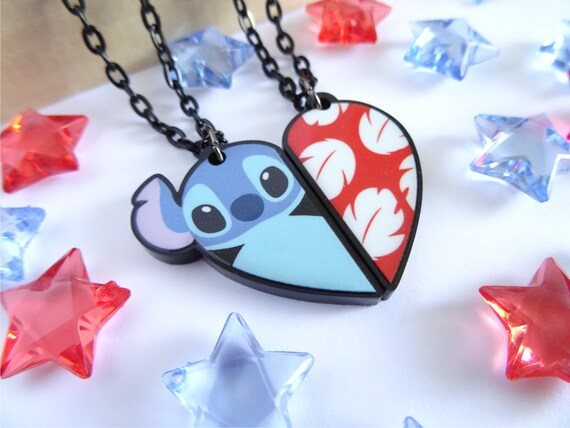Lilo And Stitch Bff Necklace Set By Happyscharms On Etsy