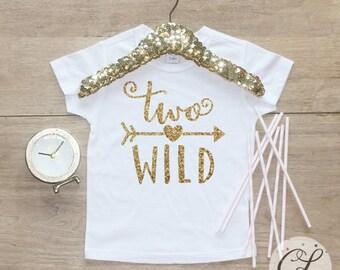 Birthday Girl Shirt / Baby Girl Clothes 2 Year Old Outfit Second Birthday Shirt 2nd Birthday Girl Outfit Tshirt Two Wild Shirt 059