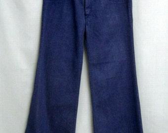 "DEADSTOCK 70s Super Wide ELEPHANT BELLS Denim Bell Bottom Jeans Women's Slacks Flares Hippie Era  Large Size 31"" x 32"""