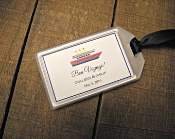 Destination Wedding Favors- Luggage Tags for Destination Weddings , Bridal Showers , Engagement Parties , Out of Town Bags , Welcome Bags