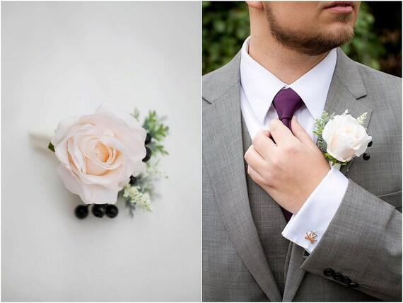 ... Groomsmen Wedding Flower, Fall Wedding, Rustic Wedding Boutonnieres