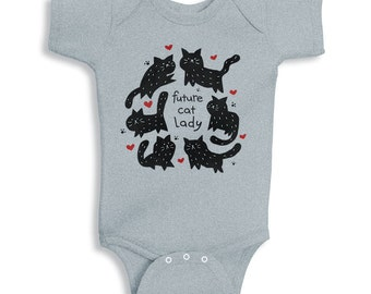 Future Cat Lady Baby Onesie, Baby Girl Outfit, Newborn Cat Shirt, Cat Lady Shirt, Cat Onesie, Cat Baby Onesie, Cat Baby Clothes