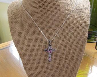 Handmade filigree and clay cross