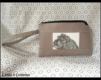 Zippered WRISTLET-Schnauzer Wristlet-Pouch-Bag-Would Make a Great Gift for Schnauzer Lovers-Ready to Ship