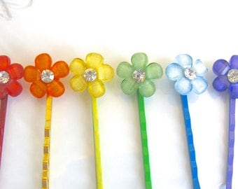 Flower Hair Clip, Flower Hair Pin, Party Favors For Girls, Flower Hair Accessories, Flower Bobby Pins, Decorative Hair Pins