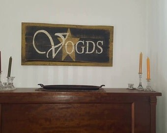 Country Shabby Chic Name Sign