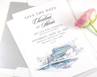 Brooklyn Botanical Garden Save the Date Cards (set of 25 cards)