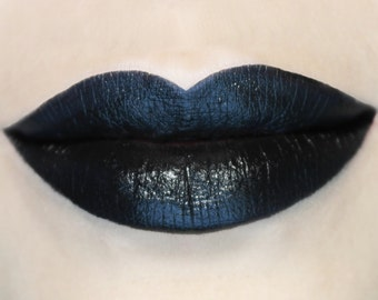 Sleepless - Vegan Opaque Black Lipstick, vegan, vegan makeup, vegan lipstick, dark lipstick, goth grunge, black lipstick, potions cosmetics
