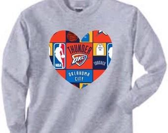 Long Sleeved Oklahoma City Thunder Shirt