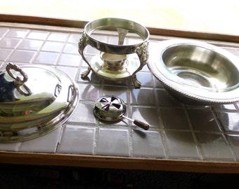 Vintage Chafing Dish, Vintage Sheridan Chafing dish, chafing dish, Warmer dish, serving dish with stand, wedding gift