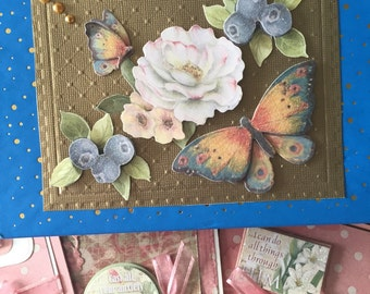 Decorated box with 6 matching cards