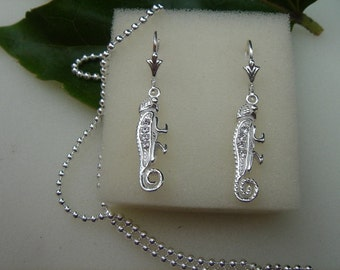925 Silver Earring with Chameleon
