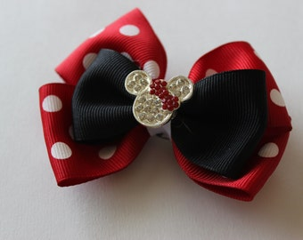 Limited Quantities! Red Minnie Mouse Inspired Boutique Bow