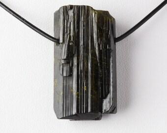 Very Rare Green Monster Mountain Epidote Crystal Pendant