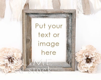Mockup Frame / Blank Frame / Display Frame / Styled Stock / Burlap / Rustic / Photo Frame / Background / Print Display / StockStyle-748