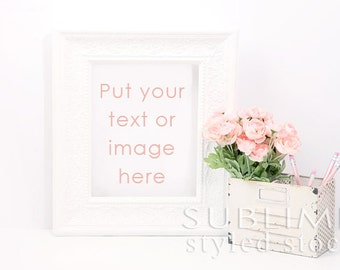 Styled Stock Photography / Blank Frame / Mockup / Stylized Photo / Empty Frame / Frame MockUp / Frame Background / StockStyle-750