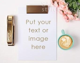 Styled Stock Photography / Styled Desktop  / Background Photo / Mock Up / Clip Board / Social Media / JPEG Digital Image / StockStyle-626