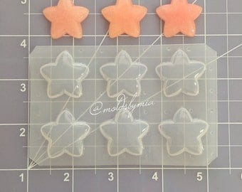 Kawaii deco stars flexible plastic resin mold